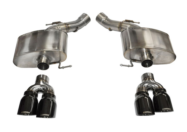 Corsa Performance 14934BLK | CORSA BMW M5 Axle-Back Exhaust F10 Sport 2012 - 2017 3 Inch Axle-Back, Dual Rear Exit with Twin 4 Inch Black Pro-Series Tips