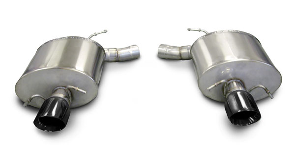 Corsa Performance 14940BLK   CORSA Cadillac CTS Axle-Back Exhaust V Sedan 6.2L V8 Touring 2009 - 2014 2.5 Inch Axle-Back, Dual Rear Exit with Single 4 Inch Black Pro-Series Tips