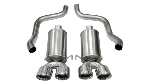 Corsa Performance 14960 | CORSA Xtreme Axle-back System fits Corvette C6 with 6.2L 4 Inch Tips; 2005-2008