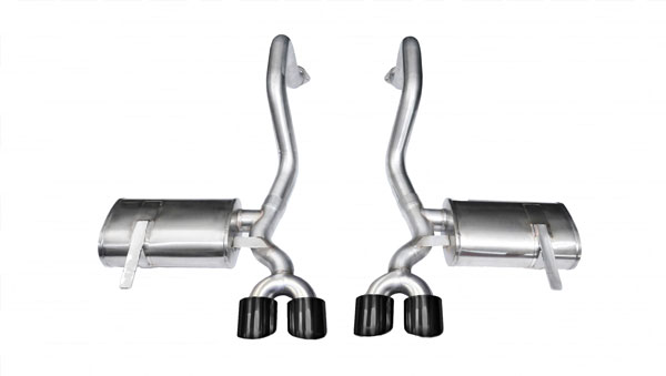Corsa Performance 14961BLK | CORSA Corvette Axle-Back Exhaust C5 Z06 5.7L V8 Xtreme - 2.5 Inch Axle-Back, Dual Rear Exit with Twin 4 Inch Black Pro-Series Tips; 1997-2004