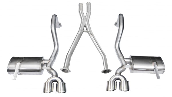 Corsa Performance 14962 | CORSA Xtreme Axle-back System with X-Pipe for Corvette C5 & Z06; 1997-2004