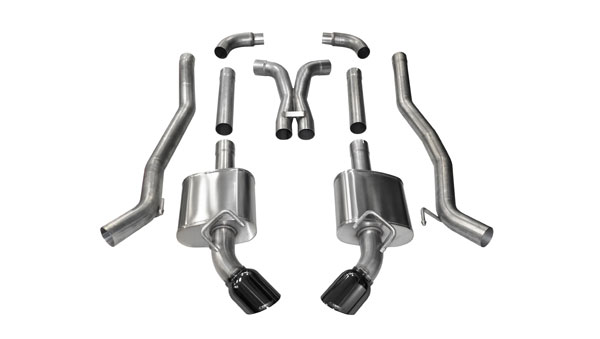 Corsa Performance 14968BLK | Corsa 2010-15 Camaro SS Extreme Exhaust System with XO-Pipe - LS3 w/ 6-Spd Manual Black Tips