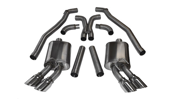 Corsa Performance 14971: Corsa Camaro ZL1 2012-15 Sport, Cat-Back System with XO-Crossover, Twin 4'' Pro-Series Tips