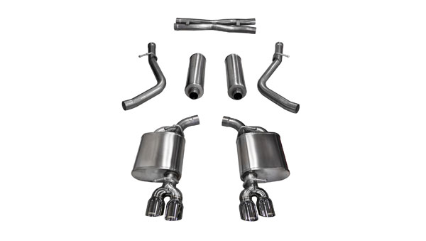 Corsa Performance 14985 | Corsa Challenger R/T 5.7L Xtreme Cat-Back with Dual Rear Exit and Twin 3.5 Polished Tips; 2015-2017