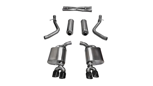 Corsa Performance 14985BLK | Corsa Challenger R/T 5.7L Xtreme Cat-Back with Dual Rear Exit and Twin 3.5 Black Tips; 2015-2017
