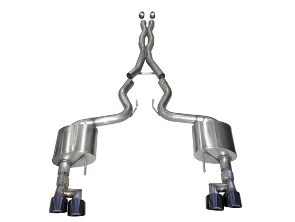 CORSA Performance 21040BLK | Corsa Xtreme Cat-Back Exhaust System without Valves Mustang GT Fastback 5.0L Black Tips; 2018-2020