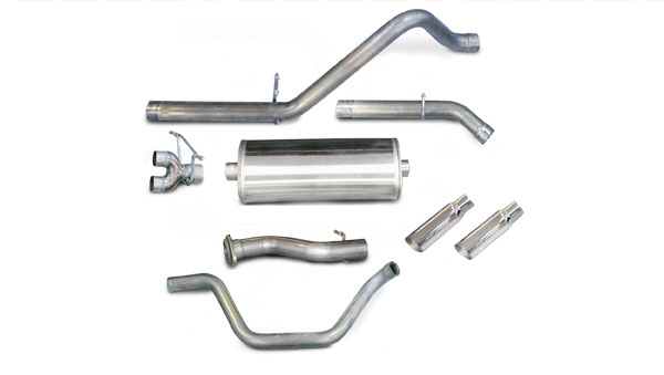 Corsa Performance 24199 | CORSA Silverado/Sierra 4.8L 5.3L 6.0L 1500-dB Series Dual Exhaust Kit EC STB CC SB; 2007-2008