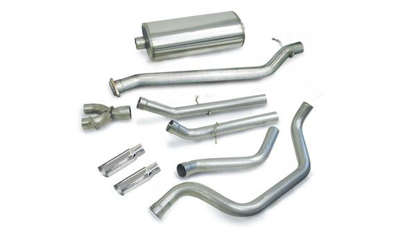 Corsa Performance 24273 | CORSA Silverado/Sierra 4.8L 5.3L 1500-dB series Dual Exhaust Kit EC SB CC SB; 1999-2007