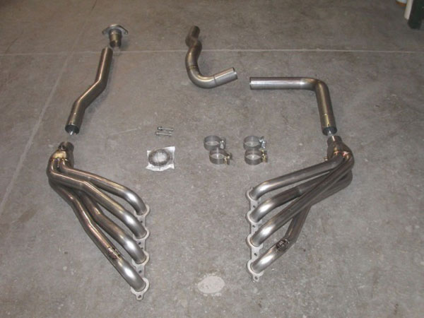 Stainless Works CT6.0OR:  2003 - 2006 / GMC Silverado / Sierra 6.0L 1500 4wd Headers w. Offroad Lead Pipes 1-3/4