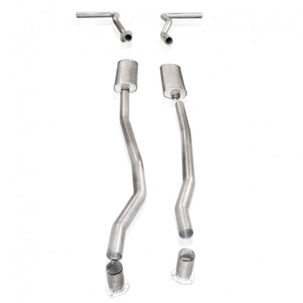 Stainless Works CT6773S:  1967 - 1987 / GMC Silverado / Sierra small block/big block 1500 / 2500 4wd Full Exhaust 2-1/2 inch