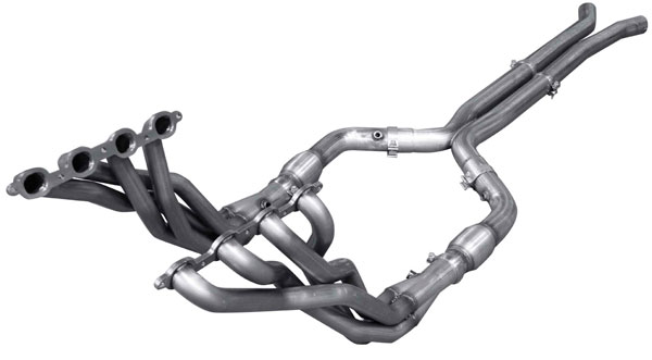 American Racing Headers (CTSV-16134300LSHWC)  Cadillac CTS-V 2016-2017 1-3/4in x 3in, H-Pipe With Cats, Long System