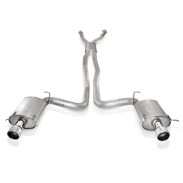 Stainless Works CTSVER:  Cadillac CTS-V 2004-07 Exhaust With Resonator Factory Connection