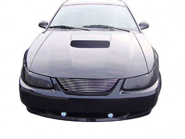 Carriage Works CW41372 | Aluminum Billet Polished Grill Mustang V6; 1999-2004