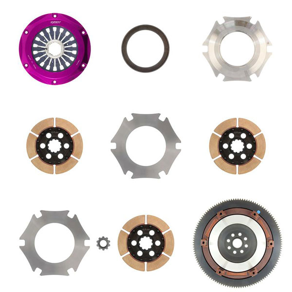 Exedy Racing FM013HB | Exedy Hyper Triple Cerametallic Clutch Kit SUBARU IMPREZA H4 2; Rigid Disc; Pull Type; 2002-2005