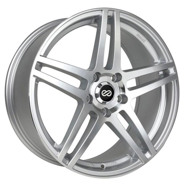 Enkei 479-670-8038sm | RSF5 16x7 38mm Offset 5x100 Bolt Pattern 72.6mm Bore Dia Silver Machined Wheel