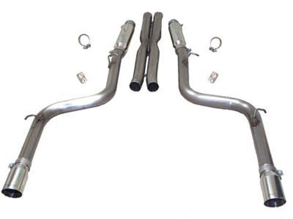 SLP D31005:  Loudmouth II Exhaust 300C SRT-8 2005-13 Cat-back System use w/#D30003, #D30003A/stock exhaust manifolds
