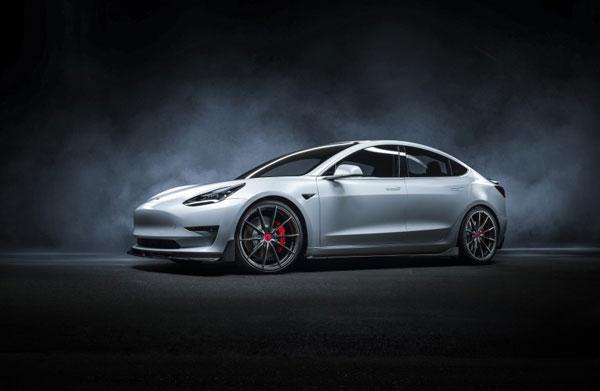 Vorsteiner tev1060 | Tesla Model 3 Volta Aero Decklid Spoiler Carbon Fiber PP 2X2 Glossy