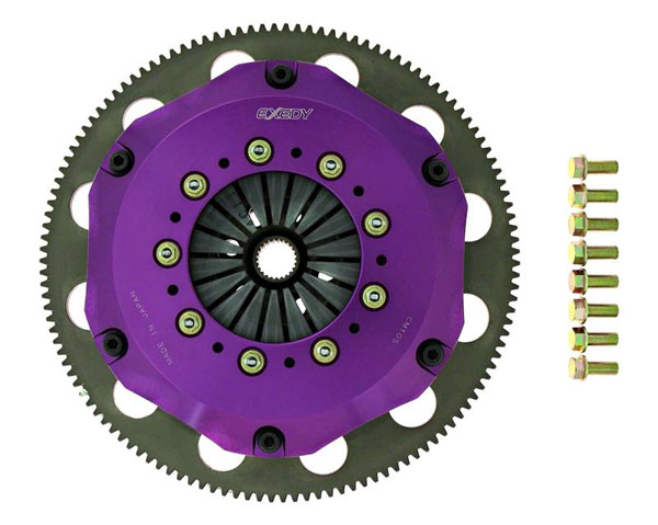 Exedy Racing NM063SBMC | Exedy Hyper Triple Carbon-R Clutch Kit NISSAN 300ZX V6 3; Rigid Disc; Push Type; 1990-1996