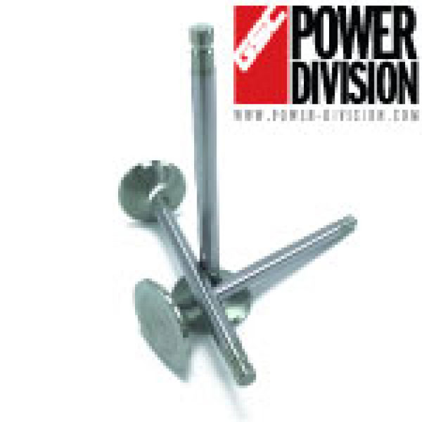 GSC Power Division 2069-12 | GSC P-D Toyota 2JZ Chrome Alloy Polished Exhaust Valve - 30.0mm Head (+1mm) 6.6mm Stem - Set of 12