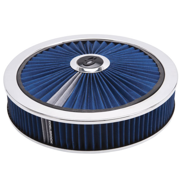 Edelbrock 43661 | Air Cleaner Pro-Flo High-Flow Series Round Filtered Top 14In Dia X 3 125In