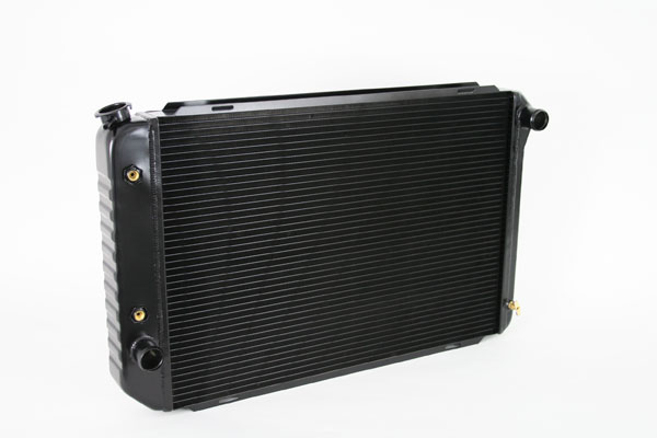 "DeWitts 1248012A |  Direct Fit Radiator Mustang All, CF 24"" core Auto 2 row 1.25"" Tubes, Black Ice; 1979-1993"