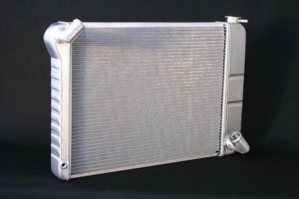 "DeWitts 1139066M | Direct Fit Radiator Corvette, BB Manual 2 row 1"" Tube, Natural; 1966-1967"