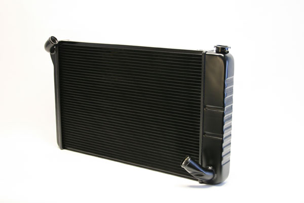 "DeWitts 1249070M |  Direct Fit Radiator Corvette, SB Manual 2 row 1.25"" Tube, Black Ice; 1969-1972"