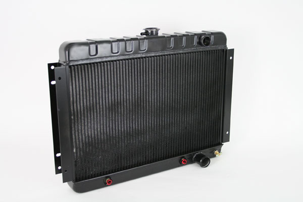 "DeWitts 1249001A | Direct Fit Radiator Chevelle SB / BB DF, Auto, HP 2 row 1.25"", Black Ice; 1964-1965"