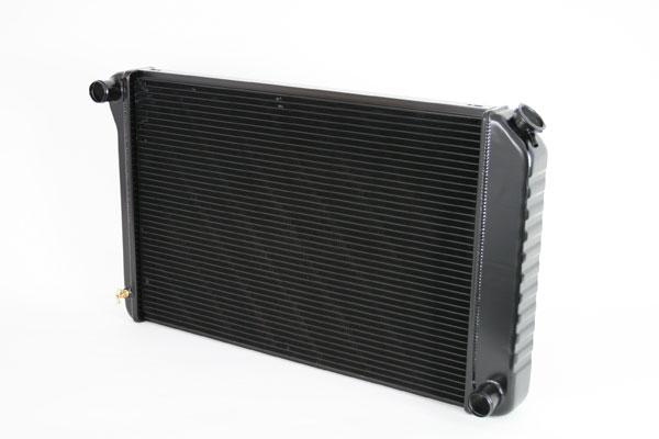 "DeWitts 1249005M |  Direct Fit Radiator Camaro 26.25"" Core CF, Manual, 2 row 1.25"" Tubes, Black Ice; 1970-1981"