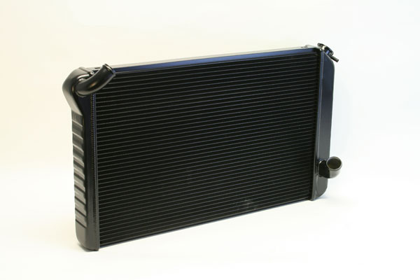 "DeWitts 1239073M |  Direct Fit Radiator Corvette, All Manual 2 row 1"" Tube, Black Ice; 1973-1976"