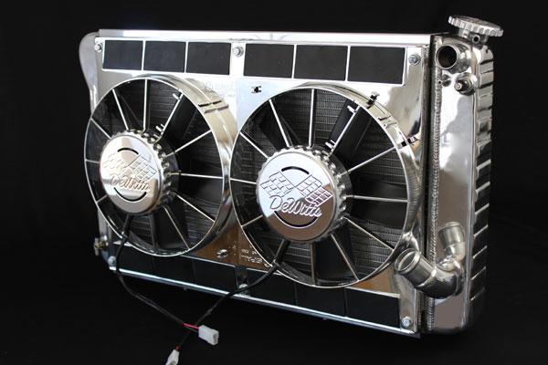 DeWitts 6339024MC |  LSX Conversion Radiator Corvette MOD. CF, Polished, Chrome Fans; 1963-1965