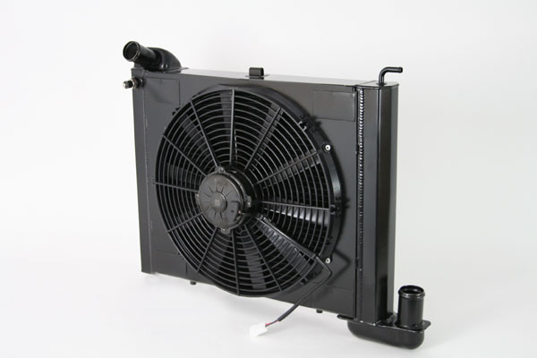 "DeWitts 4239063M |  Radiator and Fan Corvette, SB all Manual Single 16"" Spal Fan &, Black Ice; 1963-1967"