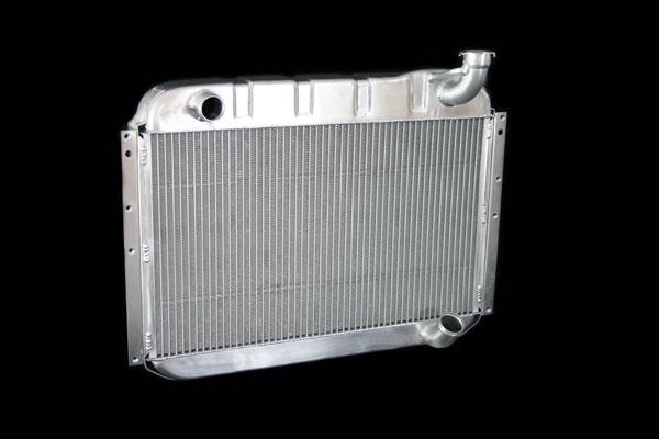 "DeWitts 1139055M | Direct Fit Radiator Corvette, DF Manual 2 row 1"" Tube, Natural; 1955-1960"