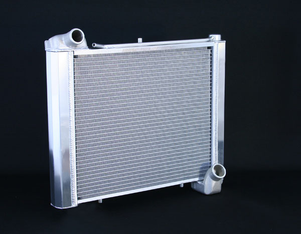 "DeWitts 1139061M |  Direct Fit Radiator Corvette, CF Manual 2 row 1"" Tube, Natural; 1961-1962"