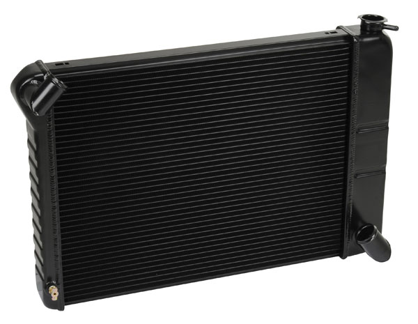 "DeWitts 1239066M | Direct Fit Radiator Corvette, BB Manual 2 row 1"" Tube, Black Ice; 1966-1967"