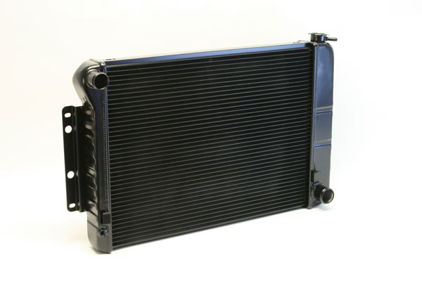 "DeWitts 1239022M | Direct Fit Radiator Camaro BB, 23.5"" Core CF, Manual, 2 row 1"" Tubes, Black Ice; 1967-1969"