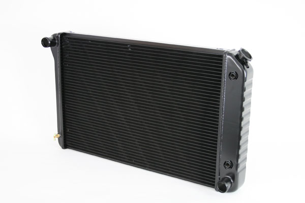 "DeWitts 1249005A | Direct Fit Radiator Camaro 26.25"" Core CF, Auto, 2 row 1.25"" Tubes, Black Ice; 1970-1981"