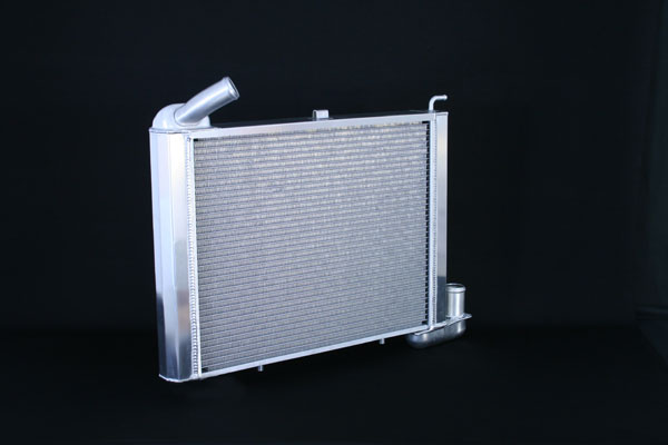 "DeWitts 1149065M |  Direct Fit Radiator HP Corvette, BB all Manual 2 row 1.25"" Tube, Natural; 1965-1969"