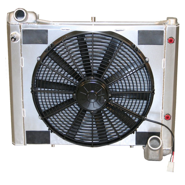 "DeWitts 4139061A |  Radiator and Fan Corvette, CF Auto Single 16"" Spal Fan &, Natural; 1961-1962"