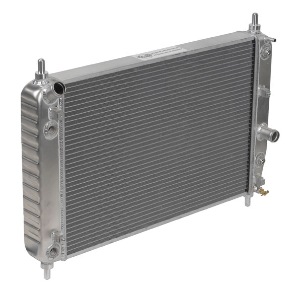 "DeWitts 1139105B |  Direct Fit Radiator Corvette, Double Core 2 row 1"" Tube with trans & oil cooler, Natural; 2005-2013"