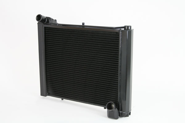 "DeWitts 1249061M | Direct Fit Radiator Corvette, CF Manual 2 row 1.25"" Tube, Black Ice; 1961-1962"
