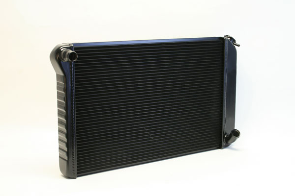 "DeWitts 1239077M | Direct Fit Radiator Corvette, All Manual 2 row 1"" Tube, Black Ice; 1977-1982"