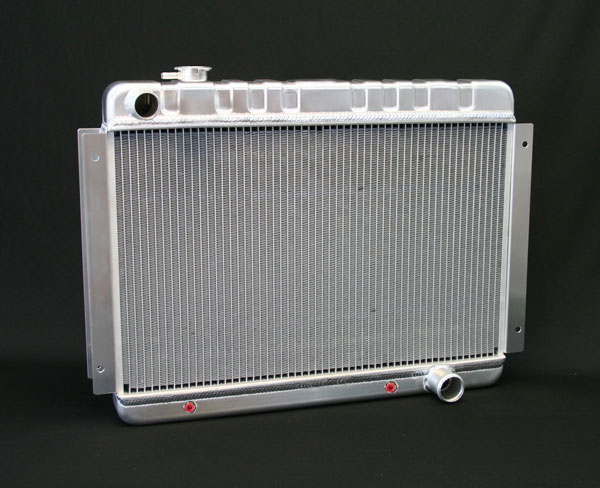 "DeWitts 1149002A |  Direct Fit Radiator HP Chevelle SB / BB DF, Auto, 2 row 1.25"" Tubes, Natural; 1966-1967"