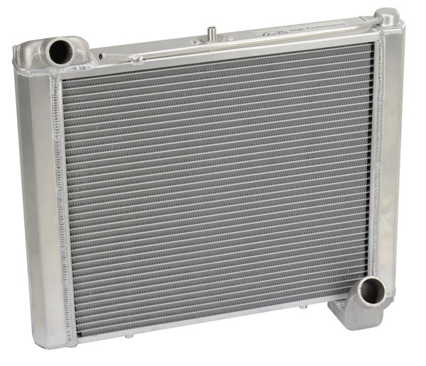 "DeWitts 1149061M | Direct Fit Radiator HP Corvette, CF Manual 2 row 1.25"" Tube, Natural; 1961-1962"