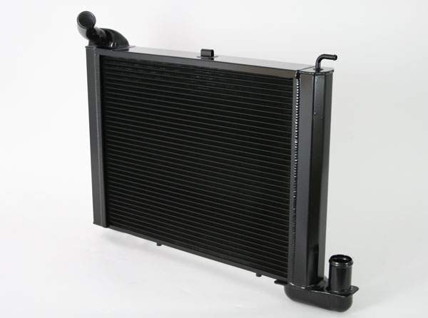 "DeWitts 1239065M |  Direct Fit Radiator Corvette, BB all Manual 2 row 1"" Tube, Black Ice; 1965-1969"