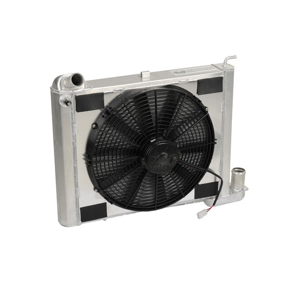 "DeWitts 4139063M |  Radiator and Fan Corvette, SB all Manual Single 16"" Spal Fan &, Natural; 1963-1967"
