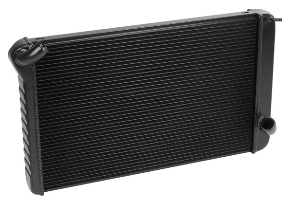 "DeWitts 1249069M |  Direct Fit Radiator Corvette, BB Manual 2 row 1.25"" Tube, Black Ice; 1969-1972"