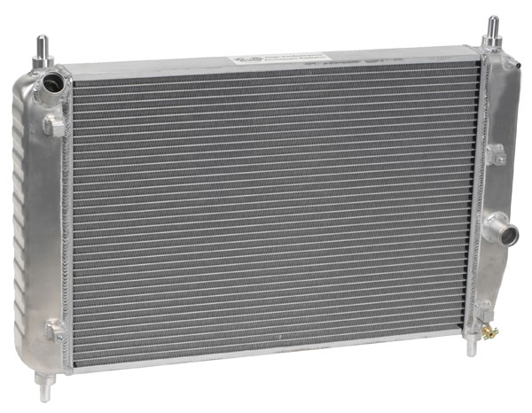 "DeWitts 1139105M |  Direct Fit Radiator Corvette, Double Core 2 row 1"" Tube Manual Trans, Natural; 2005-2013"