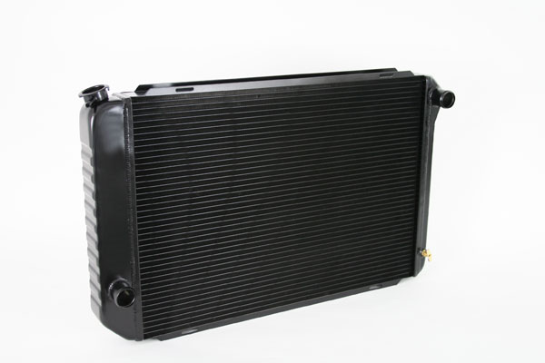 "DeWitts 1248009M |  Direct Fit Radiator Mustang TR/BL CF 26"" core 2 row 1.25"" Tubes, Black Ice; 1971-1973"