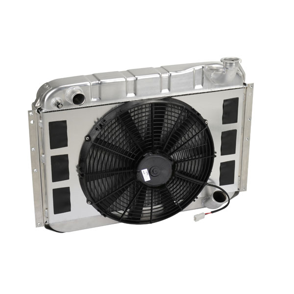 "DeWitts 4139058M | Radiator and Fan Corvette, DF Manual Low proflie Single 16"" Spal Fan &, Natural; 1958-1960"
